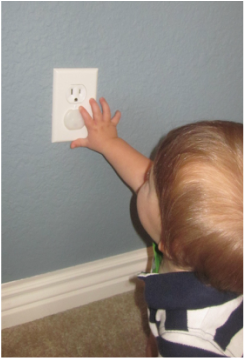 Outlet cover childproofing babyproofing child safe child safety colorado childproofers